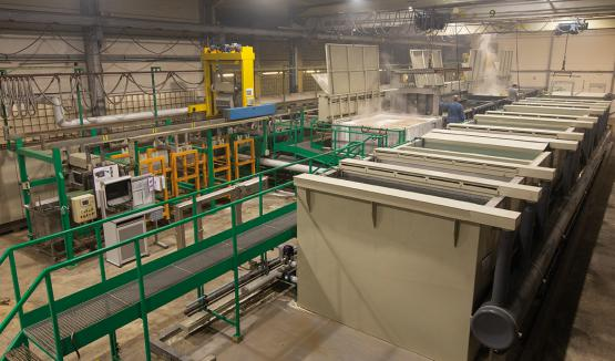 New pretreatment line for aluminum